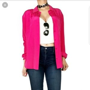 Miss Wu Silk Button Down Blouse